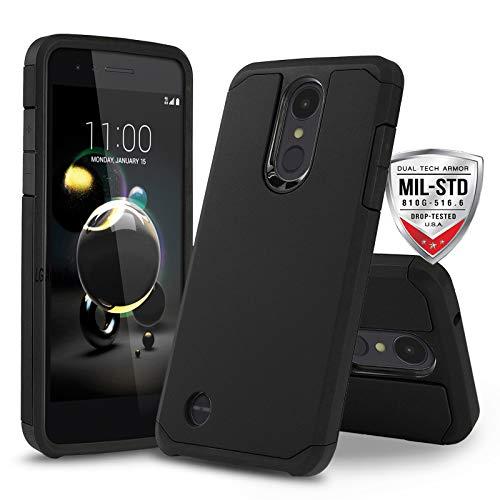 Schutzhülle für LG Optimus Zone 4 (Verizon Wireless), [DuoTEK Serie] Stoßfeste Hartschale [stoßfest] für LG Optimus Zone 4 (Verizon Wireless Prepaid-Telefon), schwarz - Prepaid-verizon-handys
