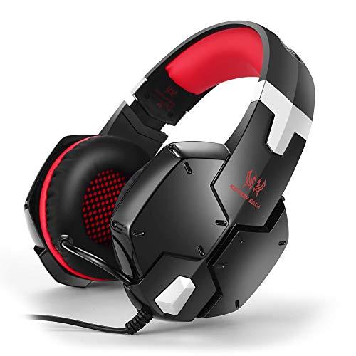 PS4 Gaming-Headset, Gaming-Headset mit 3,5-mm-Schnittstelle und HD-Bass-Surround, ausgestattet mit LED-Leuchten, für PS4 PC Xbox One-Laptoptablet (grün) 2019,05rednolight