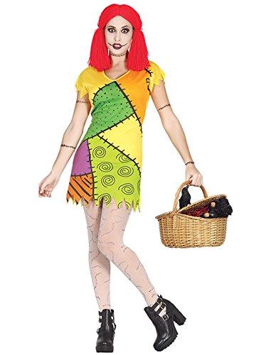 Magic Box Int. Alptraum vor Weihnachten Stil Sally Rag Doll Kostüm Medium (UK 10-12)