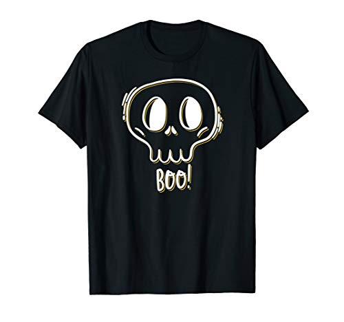Gesicht Schädel Kind Kostüm - Halloween-Schädel-Gesichts-Boo-lustiger Kostüm-Anklang T-Shirt