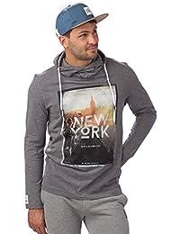 Rugby Division New York T-Shirt à capuche manches longues Homme Gris Foncé