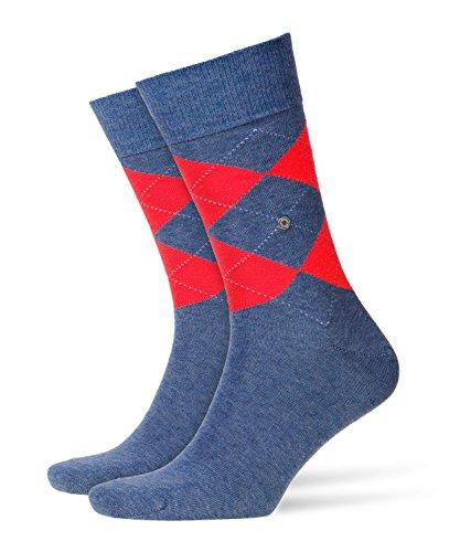 BURLINGTON Herren Neon King Socken - 1 Paar, Größe 40-46, versch. Farben, Baumwollmischung - Klassischer Strumpf mit Argylemuster in Neonfarben