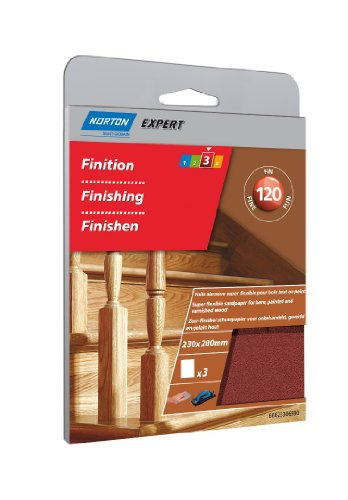 Flexibel Und Norton Schleifpapier Körnung 120/230x 280mm/3Stück (Norton 120 Schleifpapier)