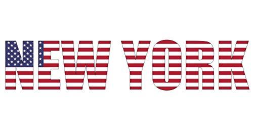 Samunshi® New York Schriftzug NY NYC Aufkleber USA in 4 Größen (10x2,2cm)