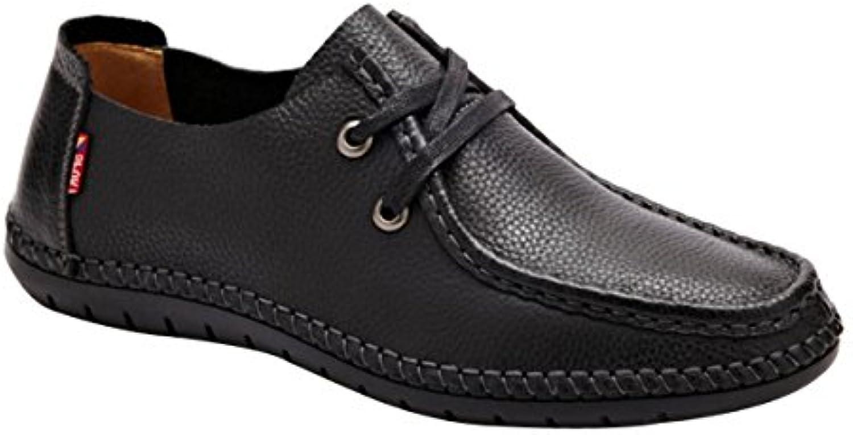 Männer Lässig Atmungsaktiv Leder Spitze Schuhe  Billig und erschwinglich Im Verkauf