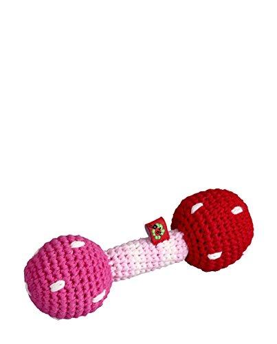 Baby Charms Häkel Rassel, 13x 5cm, Light Pink, Modell # 12756Deko -