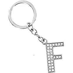 Alaso Portes-clés,Keychain, Motif Lettre de l'alphabet de A à Z Trousseau Anneau de Clé pour Décoration Cadeau Sac à Main Sac à Dos Porte Clef