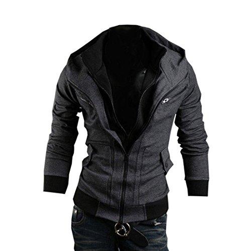 Minetom Herren Jungen Slim Fit Hoodie Lässige Jacke Modische Oberkleidung (Coole Creed Assassins Kostüm)