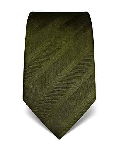 vb-mens-silk-tie-tone-in-tone-striped-many-colours-availabledarkgreen