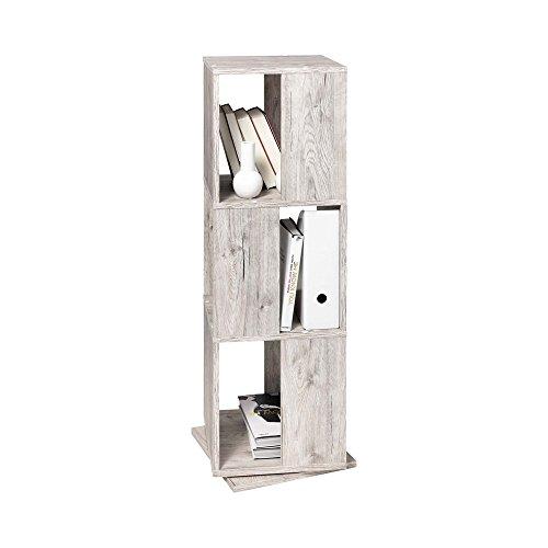 Unbekannt FMD Möbel 291-001 Tower Drehregal, Holz, sandeiche, 34 x 34 x 108 cm