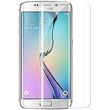 Vispow S6 Edge Vetro Temperato, 3D Curvo Bordo A Bordo Pellicola Vetro Temperato Protezione Dello Schermo Anti-graffio Anti-impronte Pellicola Protettiva Design per Samsung Galaxy S6 Edge - Trasparente