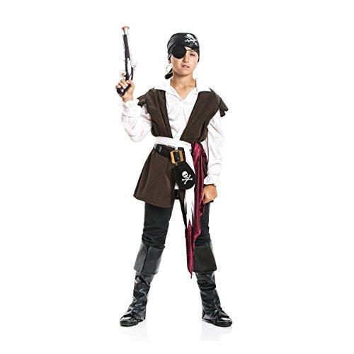 Kostümplanet® Piraten-Kostüm Kinder Pirat Jungen mit Stiefel-Stulpen Faschingskostüm Größe 116