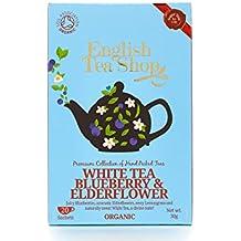 English Tea Shop Organic  White Tea Blueberry and Elderflower Super Teas - 20 Paper Tea bag Sachets (Pack of 3, Total 60 Tea Bags)
