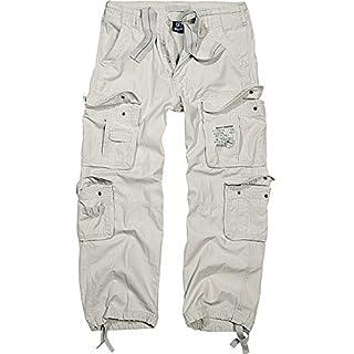 Brandit Pure Vintage Cargo Pants Mens Army Workwear Combat Trouser (3XL, Stone)