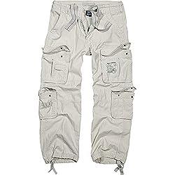Brandit Pure Vintage Trouser - Pantalon Homme Pantalon De Combat - Old White 6XL-