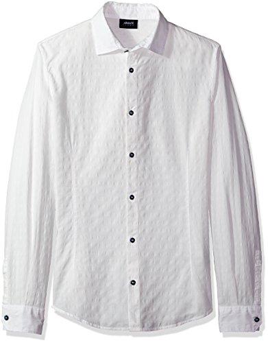Armani Jeans Herren Freizeithemd 3y6c246n2gz Optic Weiß