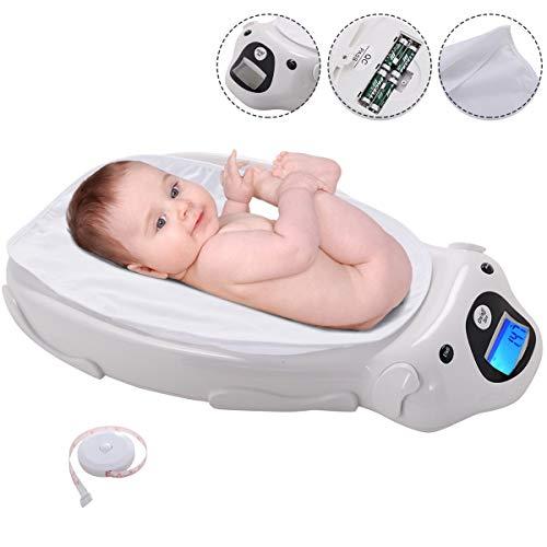 COSTWAY Digital Babywaage mit Musik | Elektronische Kinderwaage mit Batterien und Unterlage | Kleinkindwaage | Stillwaage bis 20kg