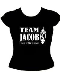 "Team Jakob Girlie T-Shirt ""M2-Schwarz"""