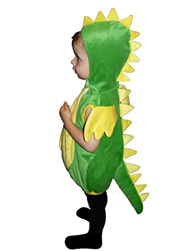 F82 Größe 104-110 Drache Kostüm für Kleinkinder und Kinder, bequem über normale Kleidung zu (Dinosaurier Kleinkind Kostüme)