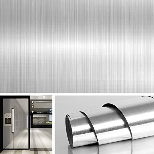 Livelynine Papier peint en acier inoxydable pour comptoirs, armoires, lave-vaisselle, mini réfrigérateur, sèche-linge