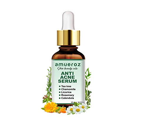 Buy Amueroz Anti Acne serum and Pimple/Acne prone removal serum | Clears scar & Dark Spots |Tea Tree – 15 ml online in India at discounted price