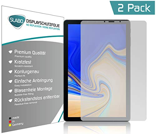 Slabo 2 x Bildschirmschutzfolie kompatibel mit Samsung Galaxy Tab S4 T830 | T835 Bildschirmschutz Schutzfolie Folie No Reflexion | Keine Reflektion MATT