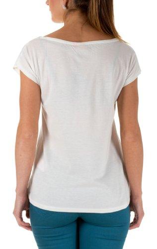 ONLY Damen T-Shirt 15082186/BEAUTIFUL BOX JRS CLOUD DANCER/BEAUTIFUL BLUE  ...