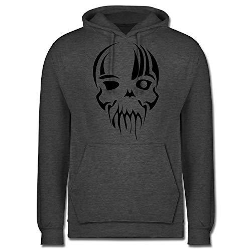 Shirtracer Piraten & Totenkopf - Totenkopf Maske - 3XL - Anthrazit meliert - JH001 - Herren Hoodie