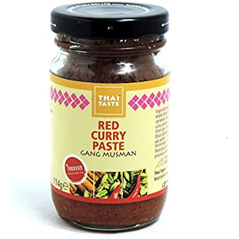Thai Taste - Red Curry Paste - Gang Musman - 114g