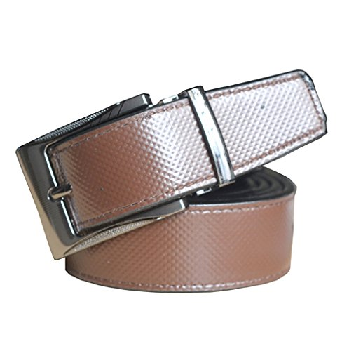 Sunshopping men's brown synthetic leather needle pin point buckle belt (r-304) (28)