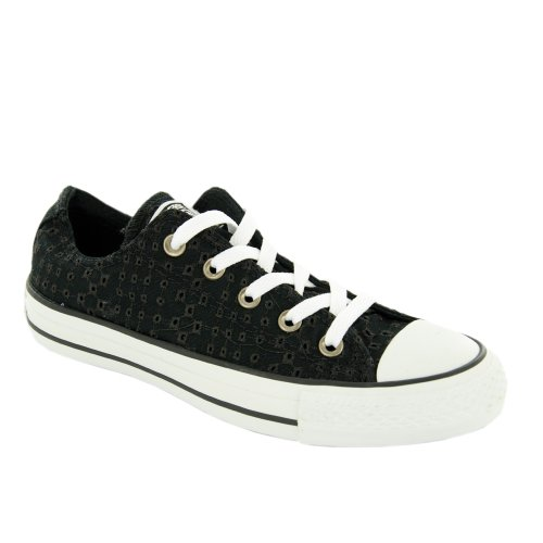 Converse All Star Ox Femme Baskets Mode Noir Noir