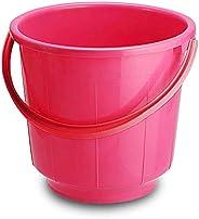 Kuber Industries Unbreakable Strong Plastic Bathroom Bucket 13 LTR (Pink) -CTKTC037883