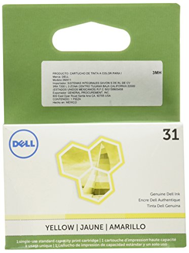 Genuine Original Dell 31 Series Single Use Ink Cartridge Yellow by Dell -