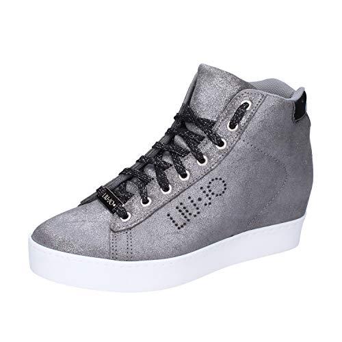 Liu Jo Donna Sneakers Zeppa Caffe S66031 P0257 Canna di Fucile 40 Canna di Fucile
