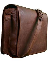 Vintage Handmade 13 Inch Leather Satchel Messenger Bag For Boy/girl/man/woman/unisex - B078ZYSJZ9