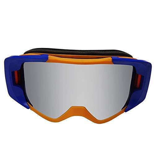 LQLQL Skibrille, Snowboard-Sportbrille, Motorschlittenfahren, Staub- und Kratzfestigkeit, UV400 OTG-Brillenhelm mit Antibeschlag-Funktion, Unisex-kompatibel, Stil 03