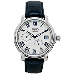 Zzero Automatic Watch Automatic Quandrante zm1924b Steel and Silver Leather Strap
