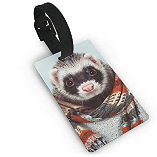 Little Ferret Delicate Printing ID Label Travel Luggage Tags Suitcase Baggage Handbag