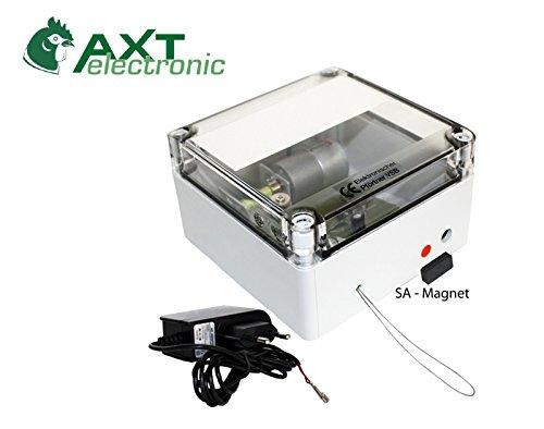 Preisvergleich Produktbild AXT-Electronic VSB+ST-SA Elektronischer Pförtner Hühnertür mit Netzteil und zusätzlicher manueller Schließmöglichke