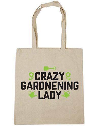 hippowarehouse-crazy-gardening-lady-tote-shopping-gym-beach-bag-42cm-x38cm-10-litres