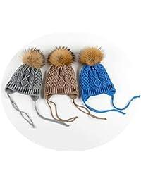 Aooaz Chapeau Enfants Coton Bonnets Enfants Dôme de Curling en Boule de  Cheveux Chapeau Western Cadeau 24e179cdd17
