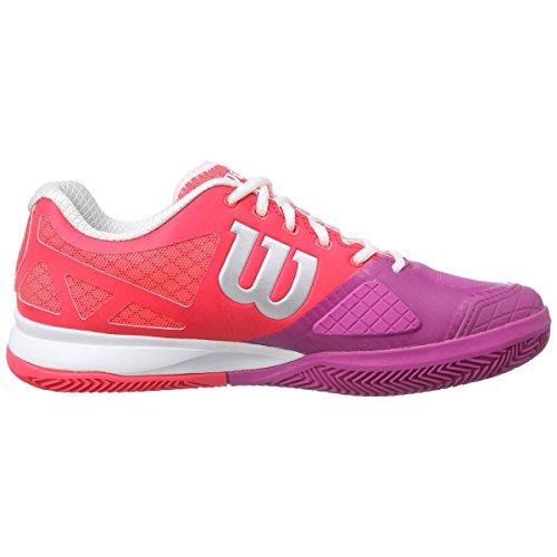 Wilson Rush Pro 2.0 W, Chaussures de Tennis Mixte Adulte Neon Red
