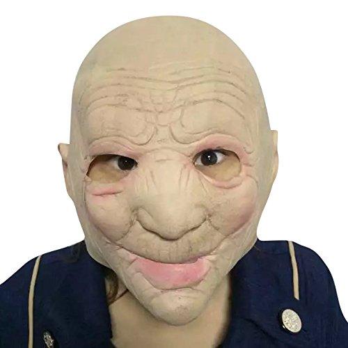 ld lady woman Maske - perfekt für Fasching, Karneval & Halloween - Kostüm für Erwachsene - Latex, Unisex Einheitsgröße (Lustige Alte Frau Kostüm)