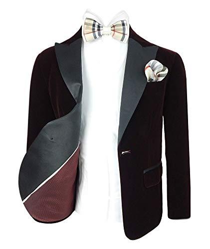 SIRRI Device 605 Kinder Jungen Smoking Blazer Anzug Jacke für Hochzeit oder Formelle Anlässe in Burgund 7 Jahre