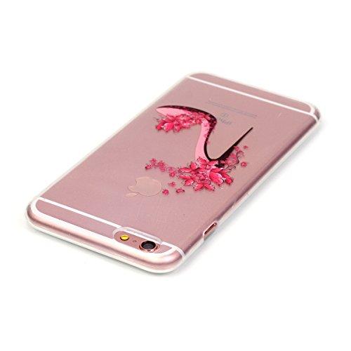 iPhone 6 Coque, iPhone 6S Coque, Lifeturt [ Ours ] Housse Anti-dérapante Absorbant Chocs Protection Etui Silicone Gel TPU Bumper Case pour Apple iPhone 6s / 6 E02-Chaussures à talons hauts