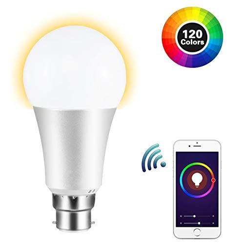 Lampadina Intelligente - FAGORY Lampadina Smart B22 LED Lampadina Wifi, Funziona con Amazon Alexa & Google Home, Accesso Remoto, Multicolore Led Bulbo per iOS / Android App