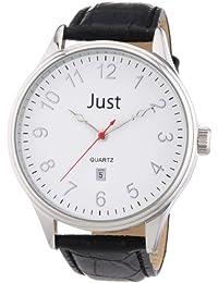Just Watches Herren-Armbanduhr XL Analog Leder 48-S3879-WH