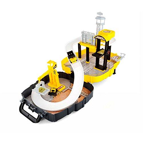 Baustellen Spielzeug-Set im wunderschönen Koffer Design, leicht zu transportieren für Ihre Kinder, Bagger, Baustelle, Kran, Neu OVP