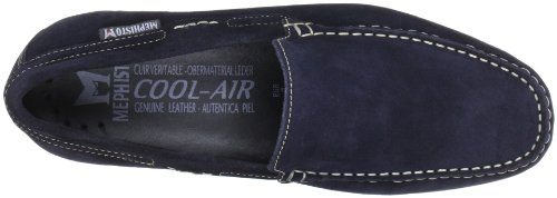 Mephisto - Algoras Velours 9895 Jeans Blue, Derby da uomo Blu (Blau (JEANS BLUE VELOURS 9895))