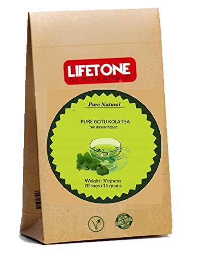 lifetone the tea for better life, GOTU KOLA Tee | 100% Pure Natural von It; s Home | Der Erinnerungstee | 20 Teebeutel